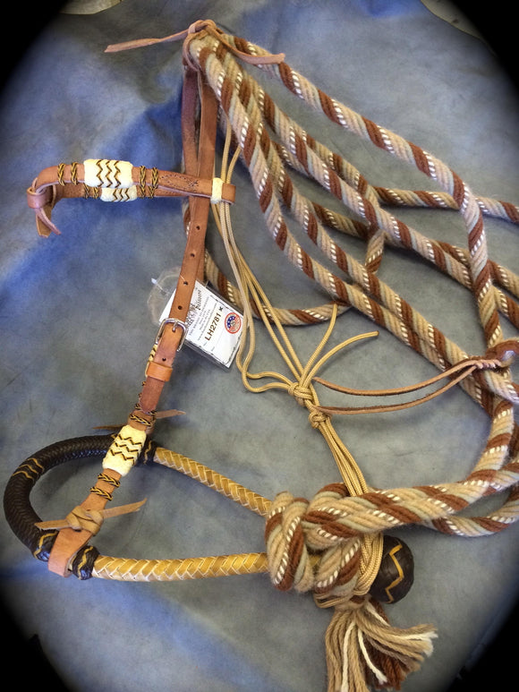 A Rawhide Accented Hackamore Set