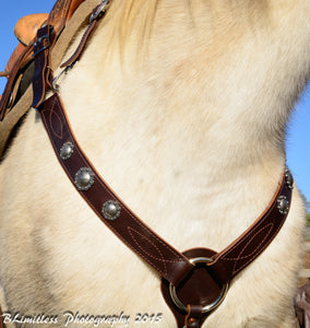 All around leather breast collar