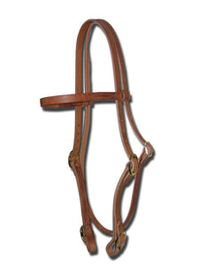 Buckle On Leather Headstall