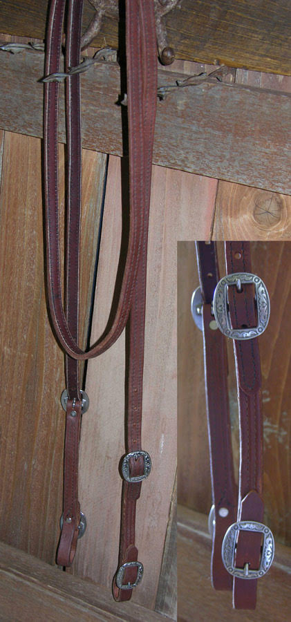 Buckle on Leather Trail Rein