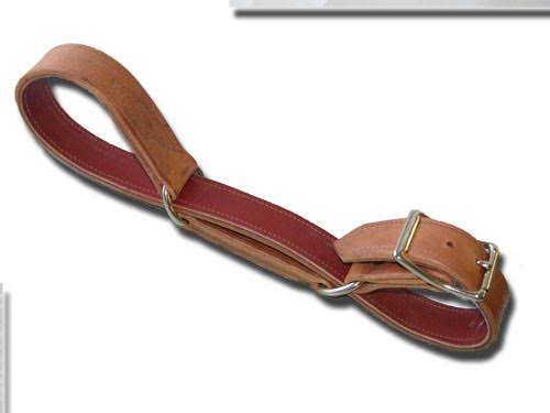 Harness Leather Hobble With Chap Lining