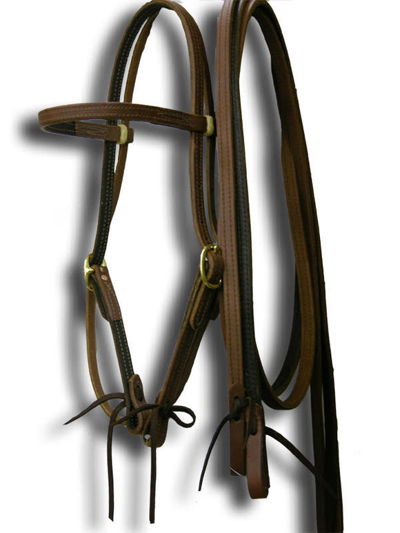 Harness Lined Ultimate Headstall & Rein Set
