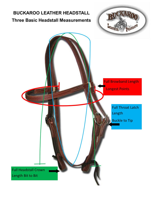 Headstall Sizing Measurement Guide Diagram