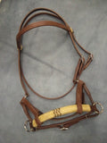 Sidepull with Rawhide Nose Horse Headstall