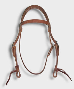 Western Leather Headstall with Browband