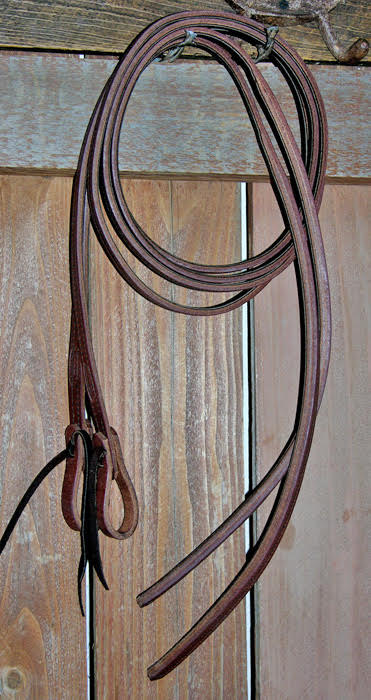 Lined and weighted split leather reins