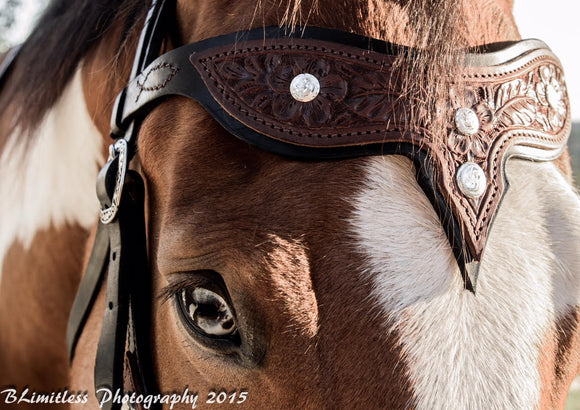 Tooled Leather Headstall