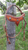 Fancy tooled leather headstall