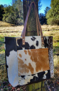 Hair On Leather Bag Western Style