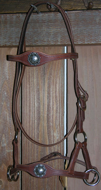 Old West Silver Sidepull Bitless Bridle