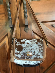 Cowhide Saddle Bag style cross body bag