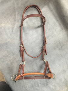 Rolled Nose Sidepull Bitless Bridle