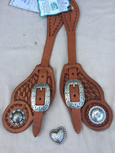 Cowboy Style Spur Strap with Conchas