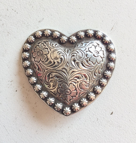 Antique Silver Heart Conchas