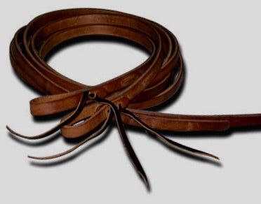 Oiled Darker Harness Leather Split Reins