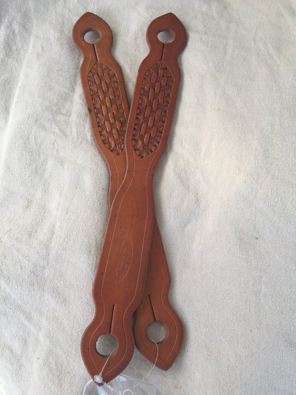 Tooled Leather Slobber Strap