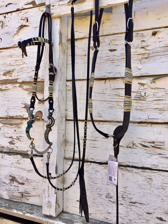 Black Headstall Set
