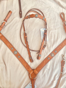 Turquoise Copper 2 piece Bridle set.