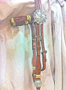 Big Punchy Western Headstall with Concho