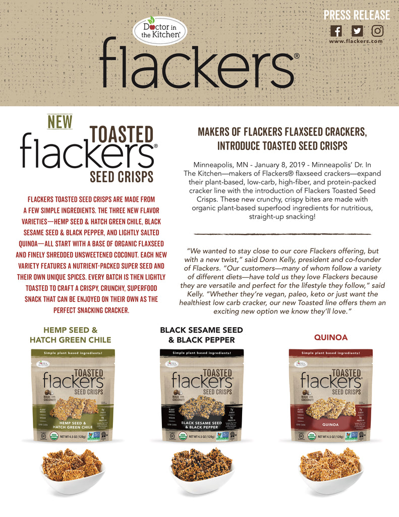 Flackers Press Release Toasted January 2019