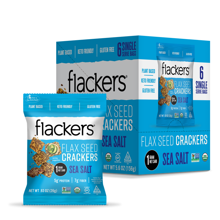 Flackers Sea Salt Single Serve 6 pack