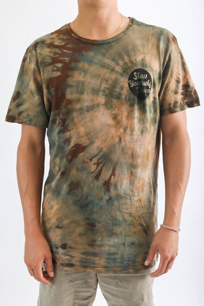 MENS RETRO CIRCLE CAMO TIE DYE