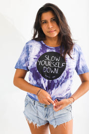 Womens Purple Tie Dye
