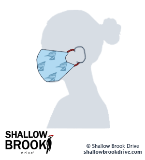 DIY Sew Your Own Face Mask Instructions Using a Tea Towel - Shallow Brook Drive - Step 6