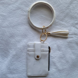 Key Ring Bangle with Zipper Wallet