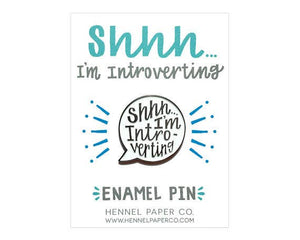 Introverting Enamel Pin