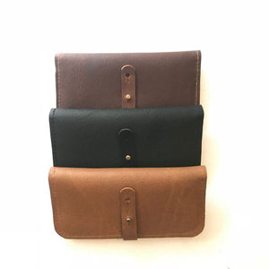 Leather Wallet with Zip Pouch