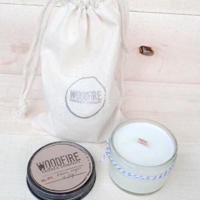 Jelly Jar Wood Wick Soy Candle