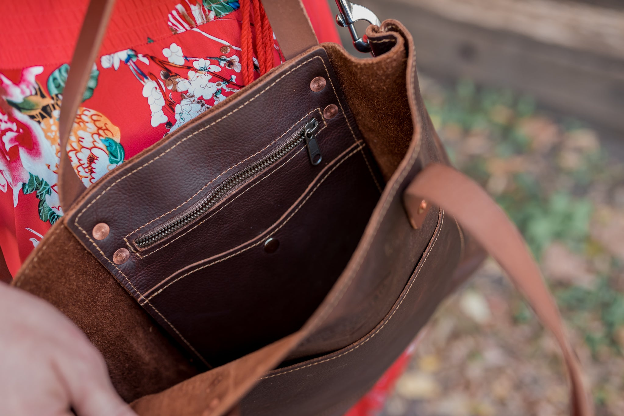 Lifetime Leather Crossbody Tote