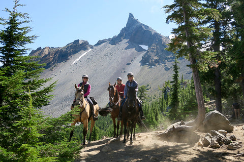 The trailhead has only two small campsites with hitching rails, but it offersadditional paved parking for 4 to 6 trailers (for either overnight camping or day use). The trailhead has no water or corrals, you can rent a corral with piped-in water at the Diamond Lake Corrals horse-rental operation next door.