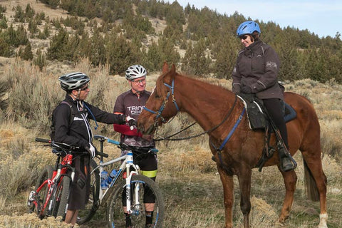 Bikes and horses sharing the trail