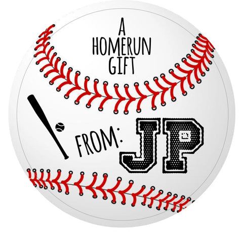 Baseball Gift Stickers