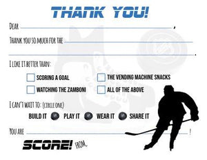 "Hockey Goals ""Blank You"" Notes"