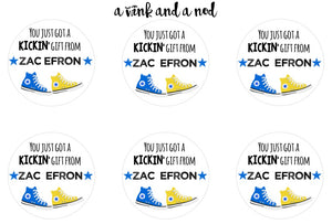 Kickin' it Shoes Gift Stickers