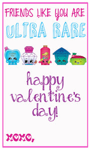 Shopkins Valentine Cards