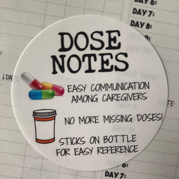 Dose Notes Medication Stickers