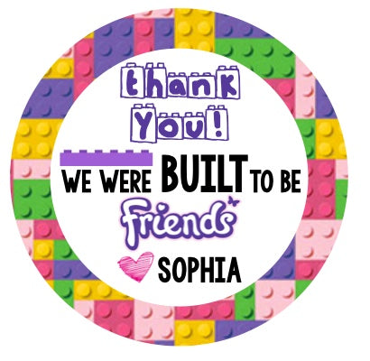 Lego Friends Favor Stickers