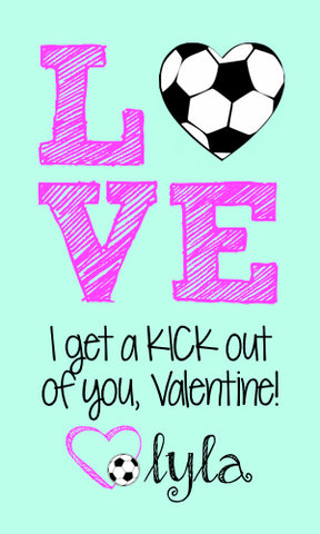 Soccer Love Valentine Cards