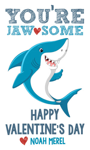 Shark Attack Valentine Cards