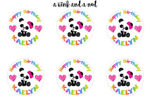 Panda Favor Stickers