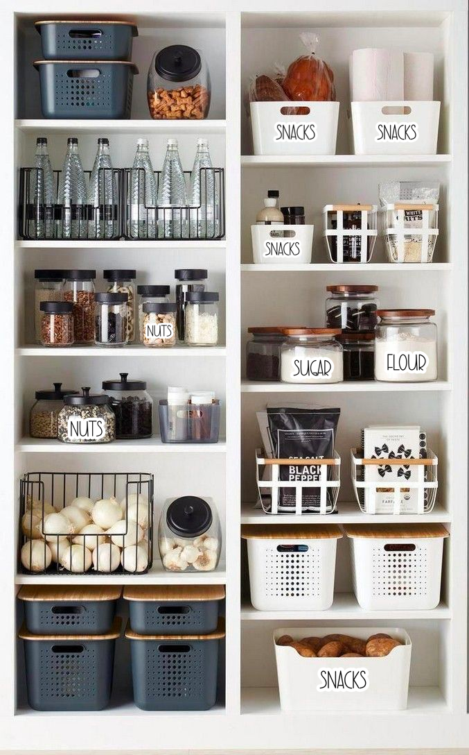 Pantry Organization Vinyl Stickers