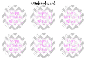 Chevron Gift Stickers