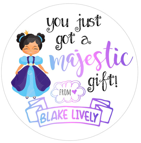 Majestic Princess Gift Stickers