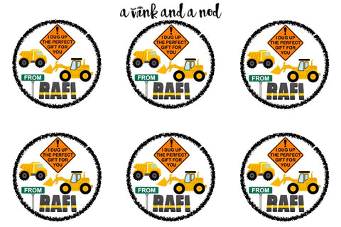 Construction Zone Gift Stickers