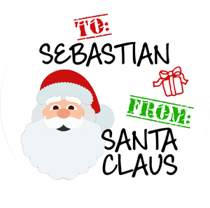 Santa's Helper Gift Stickers
