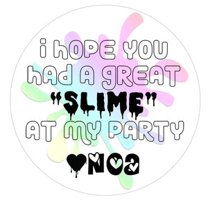 Slime Time Party Favor Tag